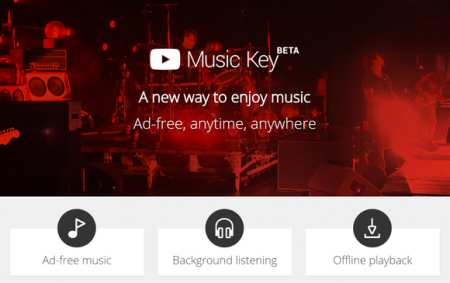 Подписчики Google Play Music получат доступ к YouTube Music Key